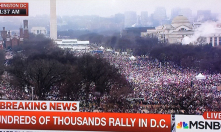 Women's March Crowds Exceed Donald Trump's Inauguration Crowd