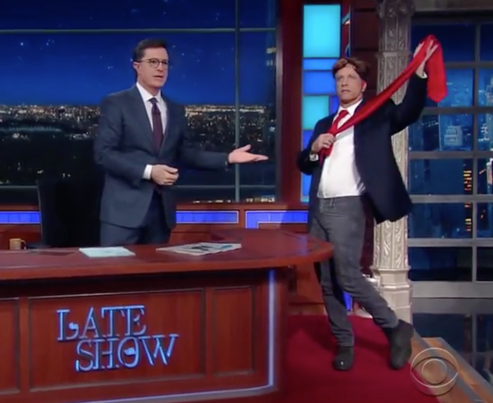 WATCH: Jon Stewart Stops In On Stephen Colbert And It's Hilarious!