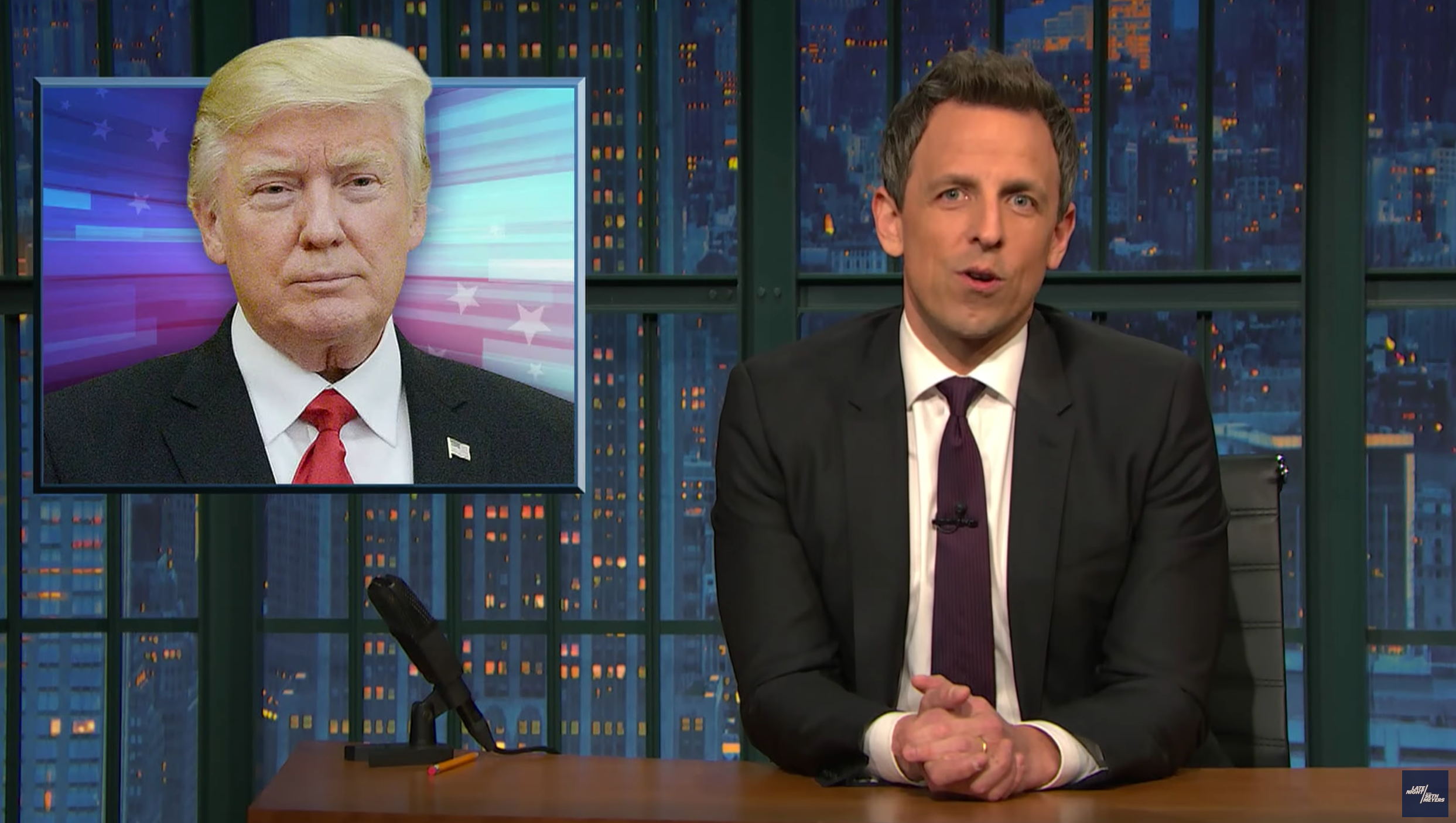WATCH: Seth Meyers Slams Trump Muslim-Ban On Late Night