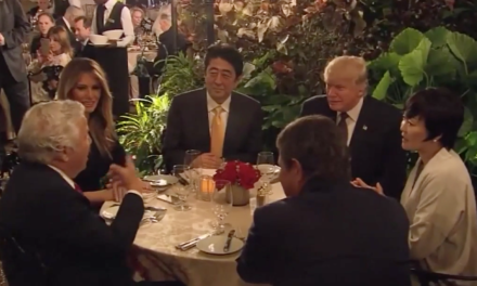 Donald Trump Has National Security Meeting In Front of Mar-A-Lago Diners