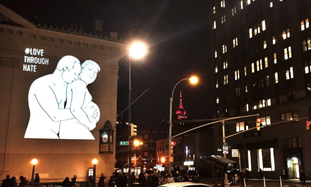 Images of Pregnant Trump and Putin Grace the Sides of New York Buildings