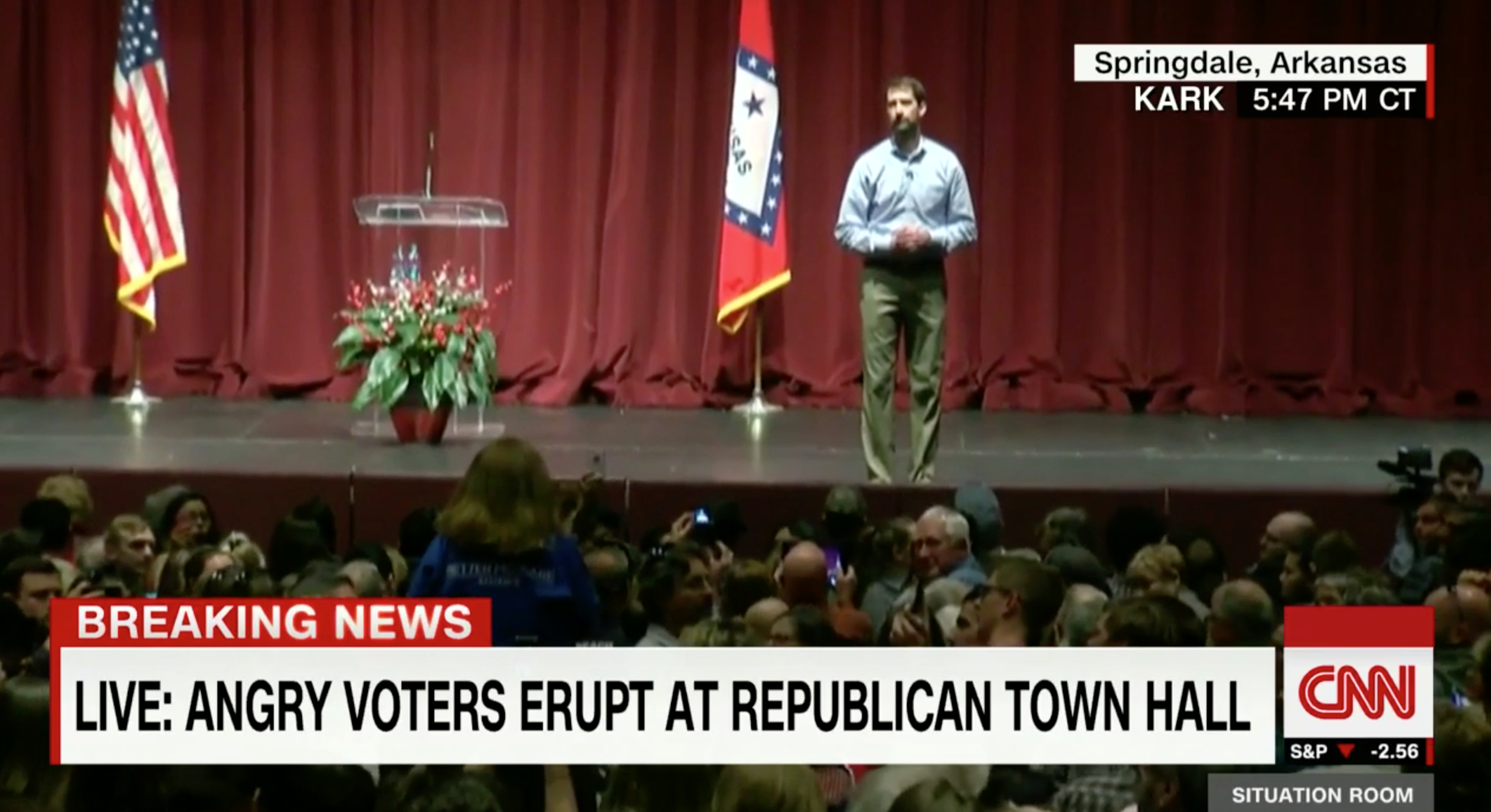 WATCH: Republican Senator Tom Cotton's Town Hall Erupts Over Obamacare
