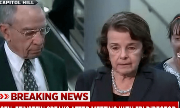 WATCH: Feinstein and Grassley Look Like They've Seen A Ghost After Briefing With FBI Director