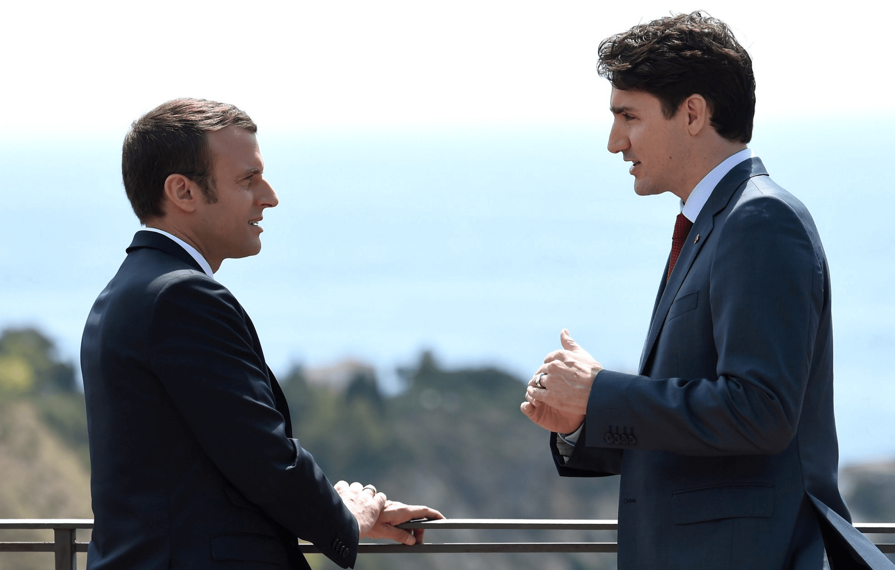 The Internet Is Freaking Out Over Macron and Trudeau's Bromance