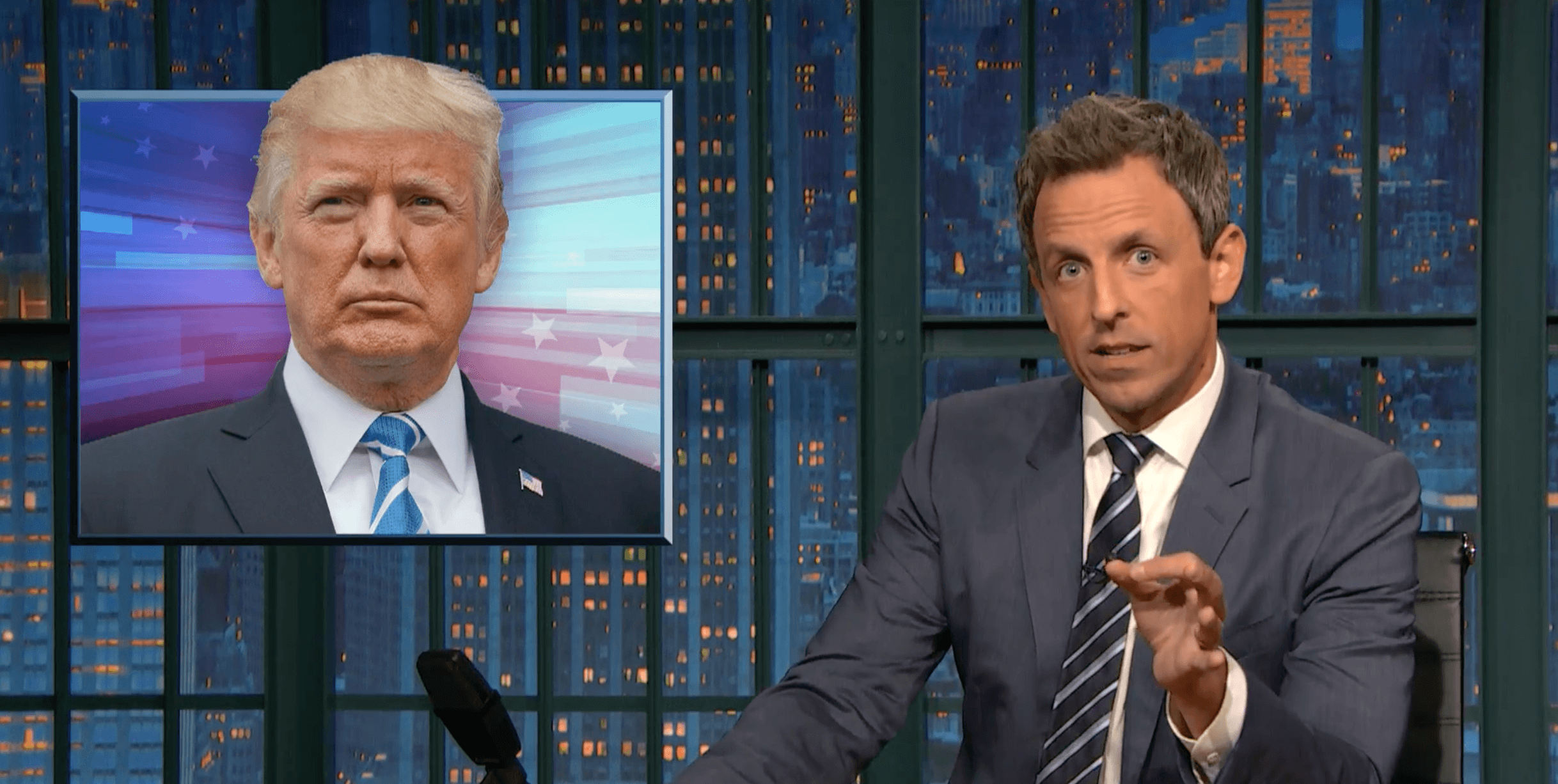 WATCH: Seth Meyers Calls Trump A 'Lying Racist' For Defending Neo-Nazis